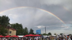 Rainbow makes an appearance at the festival.